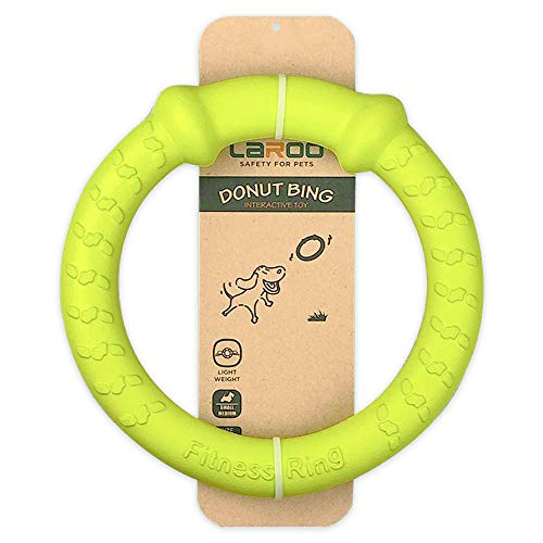 LaRoo Hundespielzeug, 17CM Hunde Fliegen Ring Haustiere Flying Disc Non-Toxic Fitness Ring für Hunde - Lemon
