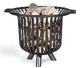 Feuerkorb Verona Ø 60cm Feuerstelle für den Garten aus Stahl Feuersäule als Wärmequelle oder Grill Hand Made Product CookKing