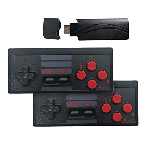 PQZATX Console de Jeu VidéO de TéLéVision Sans Fil Portable USB Construire en 628 Jeu Classique -Console VidéO 8 Bits Prise en Charge Sortie HDMI