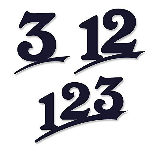 Hausnummer 2-stellig /20cm Ziffernhöhe in Anthrazit RAL7016,Schwarz oder Weiß