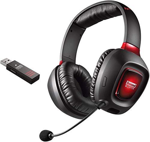 Creative Sound Blaster Tactic3D Rage Wireless V2.0 Gaming Headset für PC, Mac und PS4, schwarz
