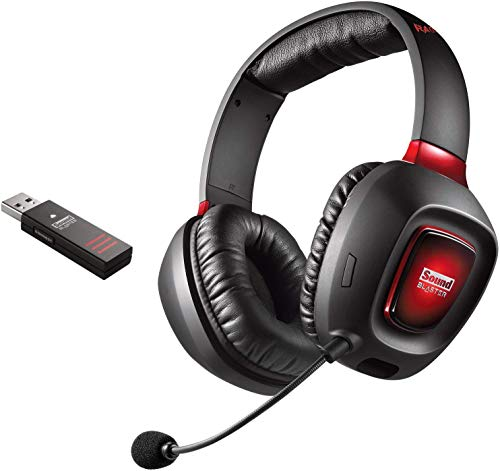 Creative Sound Blaster Tactic3D Rage Wireless V2.0 Gaming Headset für PC, Mac und PS4, schwarz