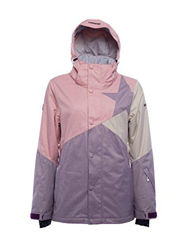Zimtstern Damen Zarin Snow Jacket, Ash Rose Twotone, XS