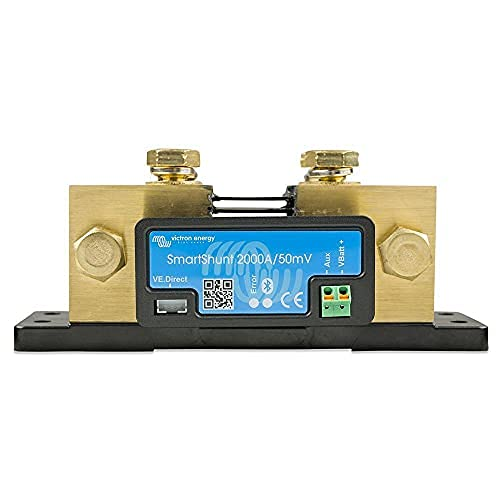 Victron Energy SmartShunt SHU050220050 - Monitor de batería sin pantalla (Bluetooth 2000 A)