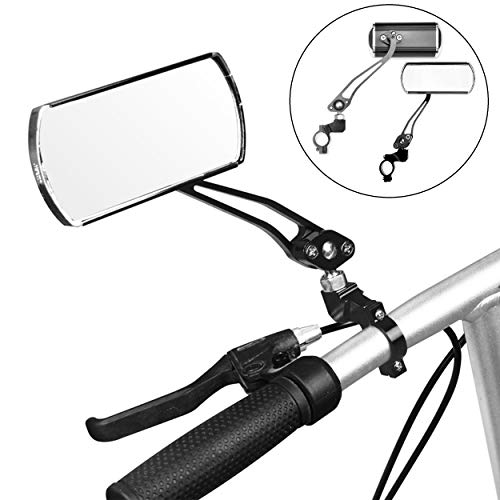 Jeemitery Bicycle Mirror,A Pair of 360°Rotation Back Rearview Mirror Handlebar Wide Angle Bike Mirror - black