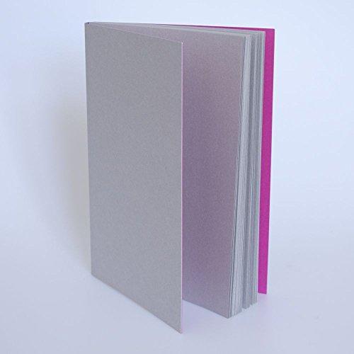 Gmund Notizbuch Sonderedition meinnotizbuch A5 GrauPink | Schweizer Broschur | Überragende Papierqualität