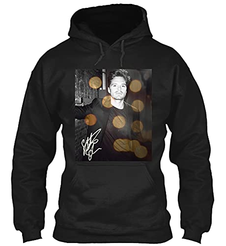 #Sebastian Stan Plays #Sheriff Lee Bodecker in The #Devil All The #time Movie Signature Hoodie Black
