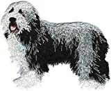 VirVenture 3' x 3 1/4' Full Body Bearded Collie Dog Embroidery Patch Great for Hats, Backpacks, and Jackets.