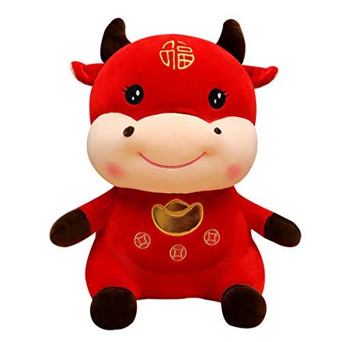 Año Nuevo Chino Red Bull Decoración 2021 Año Del Buey Festival Decoración Mascota Auspicioso...