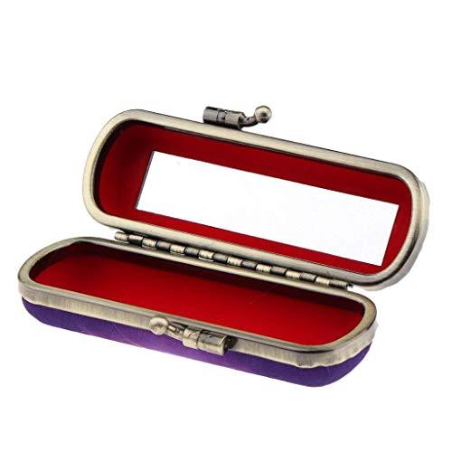 WENWEN Spiegel Lippenstift-Box Mit HD Spiegel Schmuck Stempel Box, Einfach Retro Phönix-Muster Design, Handtasche Reise Tragbare Kosmetikspiegel Schminkspiegel (Size : Clip)