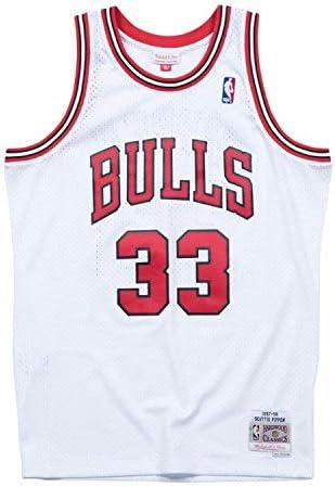 Mitchell and Ness Pippen White Bulls Swingman Jersey (BA84SL-CBUWC8O)