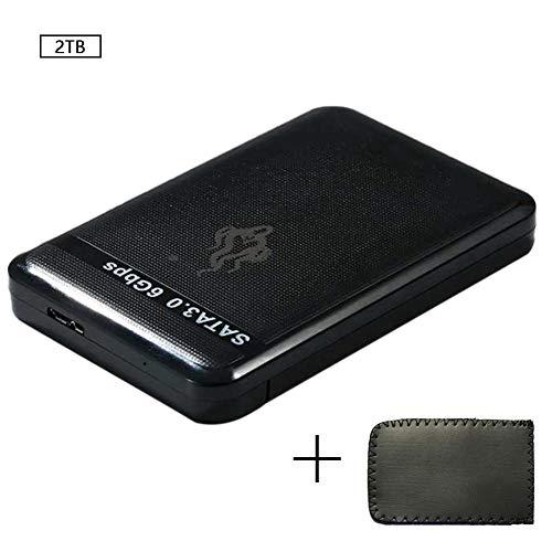 Cosanter Disco Duro Móvil De Gran Capacidad SSD de Estado Sólido 2TB USB3.0 SATA3.0 Transferencia Rápida Datos De Almacenamiento Archivos Películas 14cm * 12.0cm * 5cm Negro