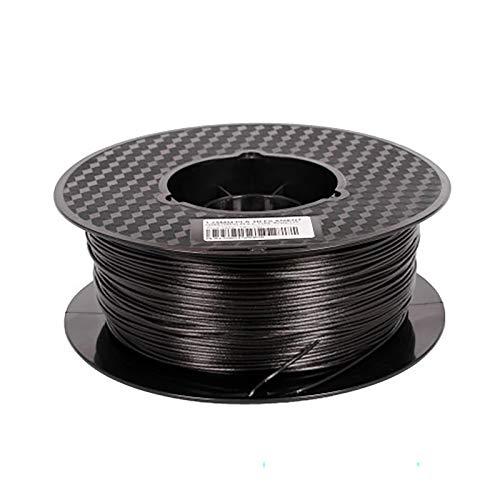 Carbon Fiber PLA 1.75 Mm 3D Printer Filament Carbon Black, Dimensional Accuracy +/- 0.02 Mm, 1 Kg Of Spool Printing Material