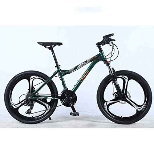 TANGIST 24 Inch 27Speed Mountain Bike for Adult, Lightweight Aluminum Alloy Full Frame, Wheel Front Suspension Female Offroad Student Shifting Adult Bicycle, Disc Brake (Color : Green, Size : A)