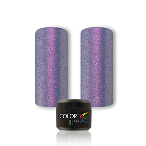 UV LED Farbgel für Nägel violett holographic lila holographic violet flip flop 5ml, Farbgel UV LED, Kolibri COLOR Gel #073,Farbgel Gelnägel, Nageldesign, Nagelgel, Colorgel für Gelnägel