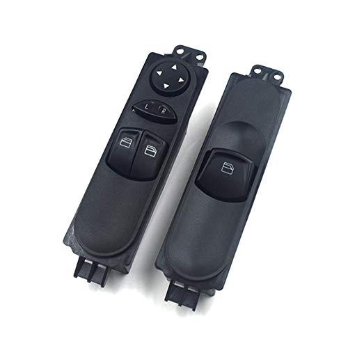 Development Interruptor de la Ventana Maestra Delantero Izquierdo Fit para Mercedes-Benz Sprinter W906 FIT FOR VW Crafter 30-35 30-50 A906 545 1213 9065451213 A9065451213 (Color : Set)