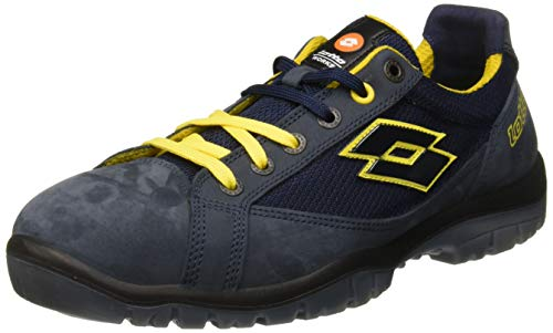 Lotto Works Q1997 Jump 500 S1P SRC - Scarpa Antinfortunistica, Blu/Giallo (Aviator/Yellow), 45 EU