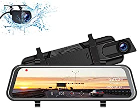 TOGUARD 2.5K Mirror Dash Cam for Cars with Waterproof Backup Camera, 10