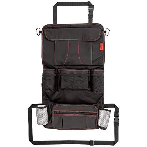 Lusso Gear Heavy Duty Back Seat Car Organizer - Red