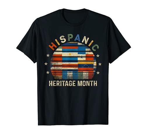 Hispanic Heritage Month Gifts Latin American Flags Latina T-Shirt