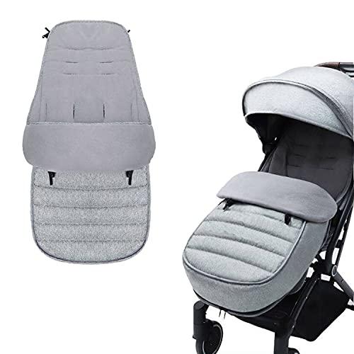 AUPOWER Footmuff, Universal Footmuff for Pushchair Waterproof and Windproof Fleece Lined Stroller Pram, Grey