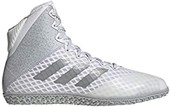 adidas Mat Wizard Hype White/Silver Wrestling Shoes 10.5