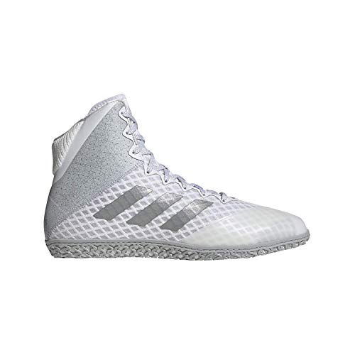 adidas Mat Wizard Hype White/Silver Wrestling Shoes 15