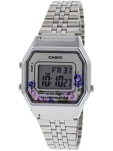 Casio Women's Vintage LA680WA-4C Silver Stainless-Steel Quartz Fashion Watch