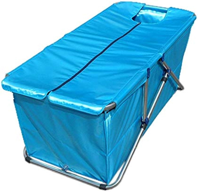 YUANY Inflatable Bath Home Einfache, übergroe, Dicke Faltbadewanne Badewanne (Farbe  Blau)
