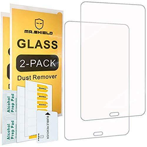 [2-PACK]-Mr.Shield For Samsung Galaxy Tab A 8.0 (2017) / Galaxy Tab A2S (SM-T380) [Tempered Glass] Screen Protector [0.3mm Ultra Thin 9H Hardness 2.5D Round Edge] with Lifetime Replacement