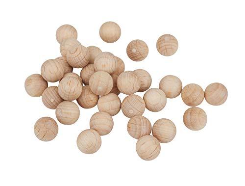 Holzkugeln ohne Bohrung Ø 10 mm, 35 Stück