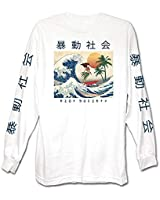 Riot Society Men's Wave Rider Long Sleeve Graphic Long Sleeve T-Shirt - White, X-Large