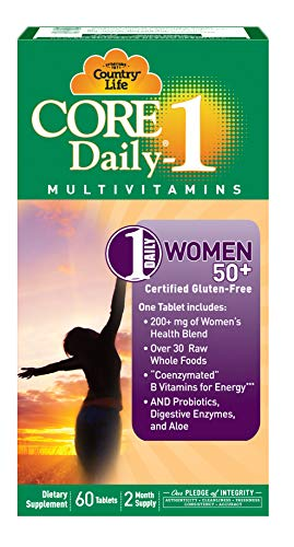 Country Life Core Daily-1 for Women 50 Plus - 60 Tablets - 200+mg of Women