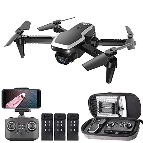 skrskr CSJ S171 PRO RC Drone con fotocamera 4K Mini Drone Quadricottero pieghevole a doppia fotocamera per bambini con funzione Traiettoria Volo Modalità senza testa Volo 3D Auto Hover One Key Decollo