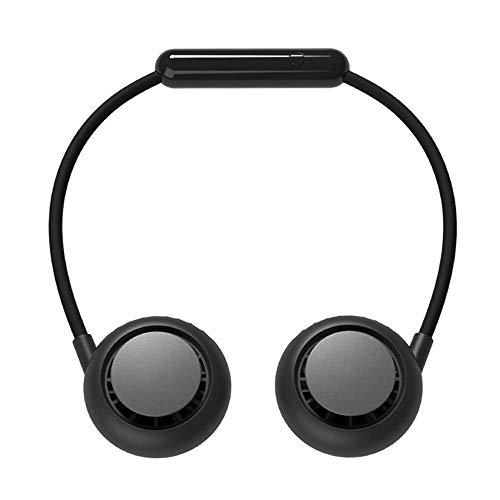 HIGHKAS HanVentilador Personal d-Free, Mini Ventilador Doble con Cuello, Ventilador Recargable USB portátil, Funcionamiento de 3 velocidades, Plegable, 360 °; Ventilador Personal portátil Ajustable,