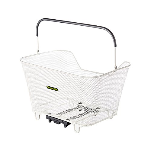 Racktime Baskit Large Rear Racktop Bicycle Basket (White)
