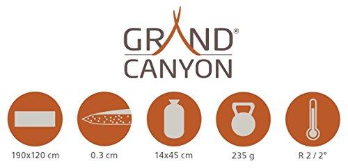GRAND CANYON Aluminium Double mat - Aluminium insulating mat, thermal mat, 190 x 120 cm, 305003