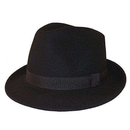 Chapeau-tendance - Chapeau Trilby Noir Maccorse - 56 - Homme