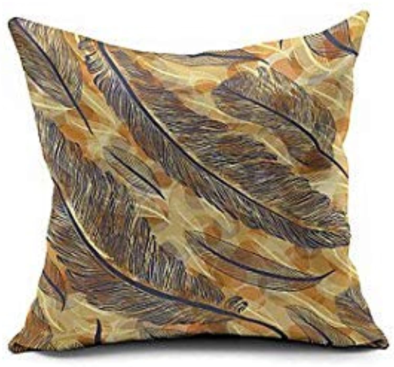 2016 New Arrival Peacock Feather Cotton Linen Pillow Cover, Nature Modern Contemporary Pillow Linen Cushion  04929812