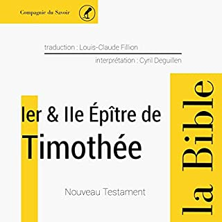 Couverture de 1ère et 2ème épître à Timothée