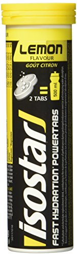 Isostar Powertabs Zitrone, isotonisches Getränk,Sportdrink für intensives Training, 1er Pack (in 1Tube 10 Tabs)