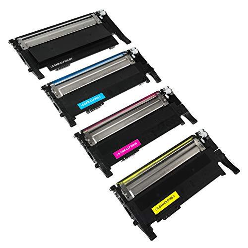 4 Toner kompatibel mit Samsung CLT-P406C/ELS für Samsung Xpress C460W/TEG C460FW/TEG CLX-3305/XEG CLX-3305FN/TEG CLX-3305FW C410W - CLP-360 CLP360 CLP-365 - Schwarz 1.500 Seiten, Color je 1.000 Seiten