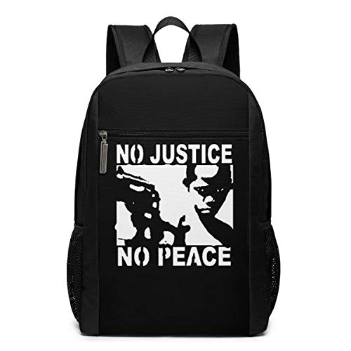 ZYWL no Justice no Peace Utra-Premium 17-inch Travel Laptop Backpack, Bookbag, Business Bag