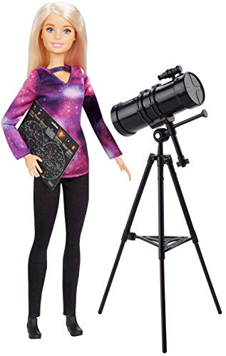 ​​Barbie Astrophysicist Doll, Blonde with Telescope and Star Map, Inspired by National Geographic