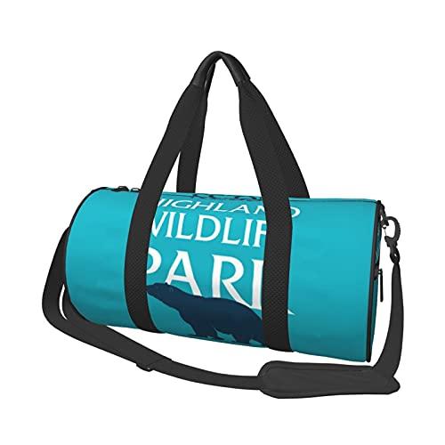 MBNGDDS Highland Wildlife Park Bolsa de viaje ligera, plegab