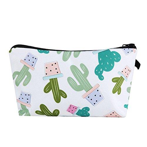 Soochat Cactus Makeup Bag - Cactus Pencil Case Cute Necessaries for Women Girls Makeup Travelling