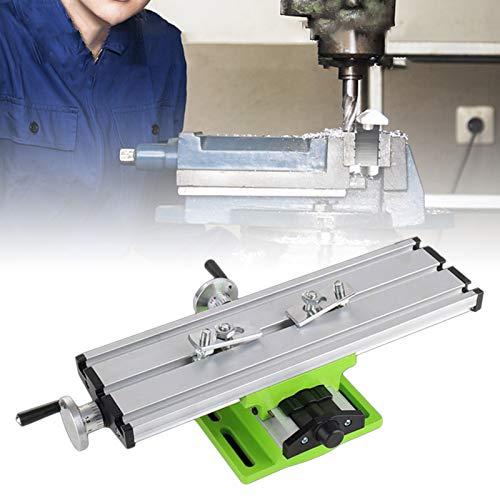 Mini macchina da tavolo di lavoro di fresatura, tavola scorrevole composta, fresatrice a banco trasversale con tavolo di diapositiva, morsetto per trapano a banco a croce