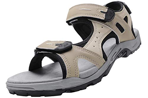 CAMEL CROWN Comfortable Hiking Sandals for Men Waterproof Sport Sandals for Walking Beach Water with Arch Support