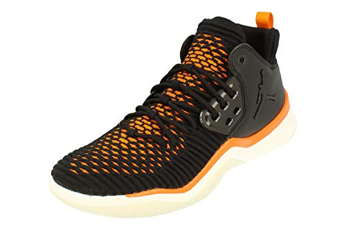 Jordan Men's DNA LX Basketball Shoes, Black/Black/Sail/Copper Flash, 8.5