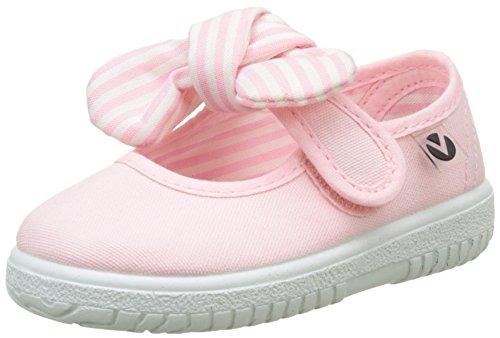 Victoria Mercedes Lona Pañuelo, Zapatos de primeros pasos para Bebé-Niñas, Rosa, 22...